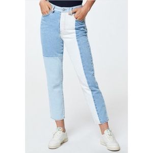 Pacsun Hopper Patchwork High Rise Mom Jeans